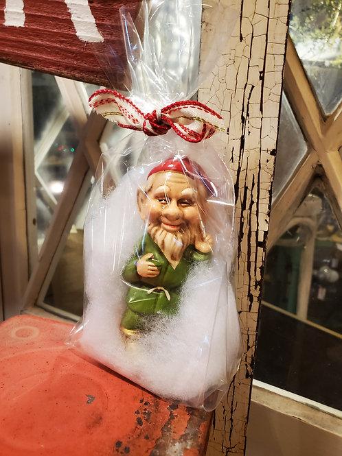 Vintage elf in a bag