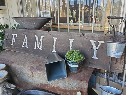 """Wooden 'Family' Sign - 59"""" wide x 12"""" tall"""