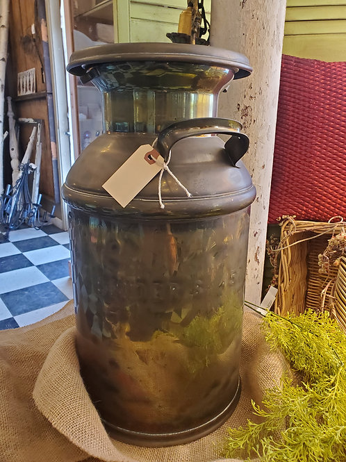"Vintage ""Sniders"" Milk Can - 20"" tall x 10"" wide at top"