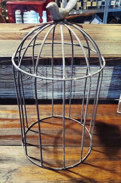 "Bird Cage Cloche - 12"" tall"