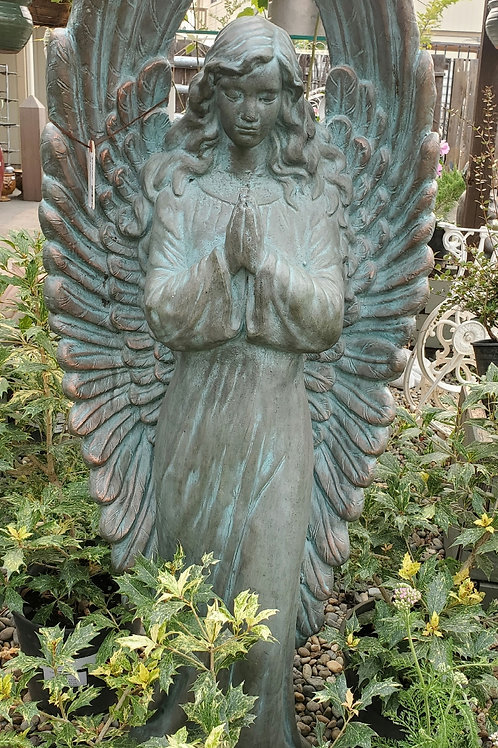 Beautiful Praying Angel w/ Patina Style Finish