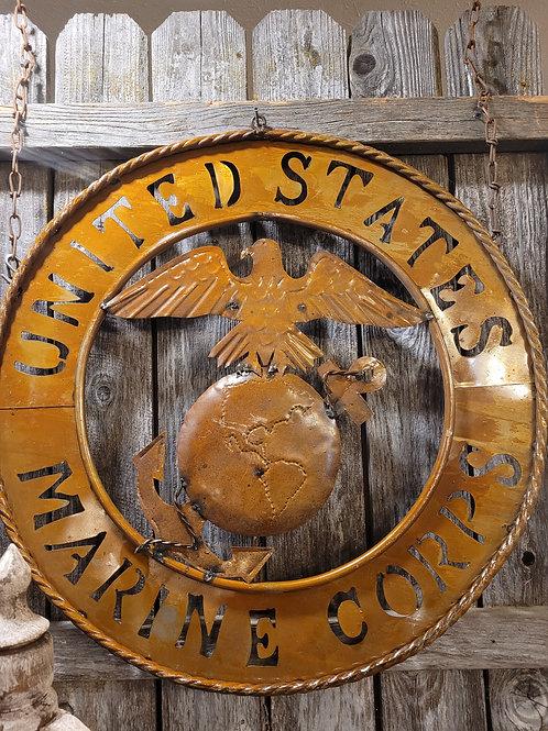 """28"""" Round United States Marine Corps"""