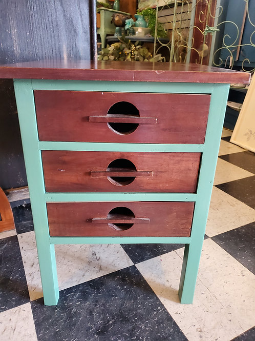 "Small BOHO 3 drawer storage- 17"" wide x 22 1/2"" tall x 17"" deep"