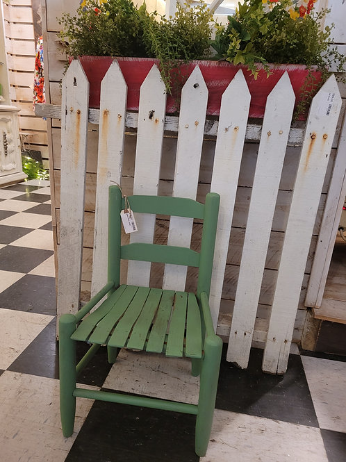 Green Childs Chair