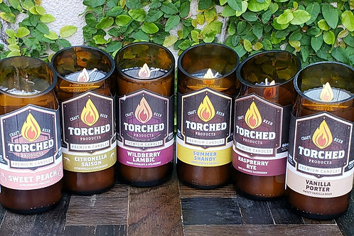 Torched Beer Candle