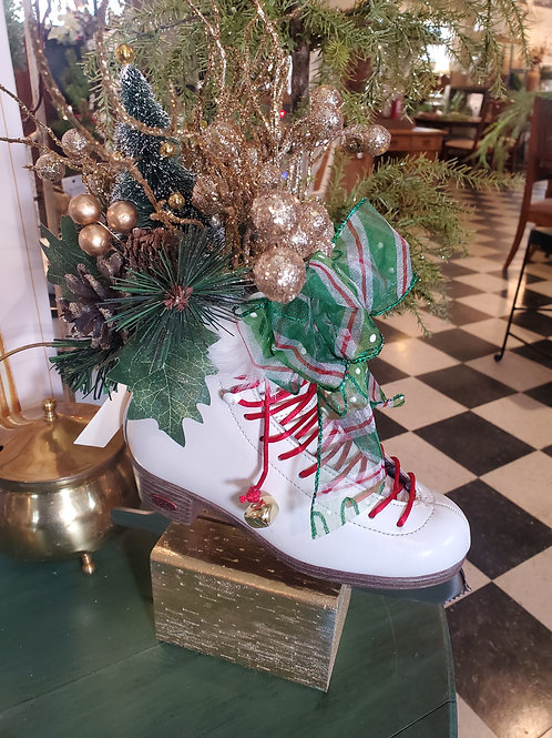 Christmas Ice Skate on Stand