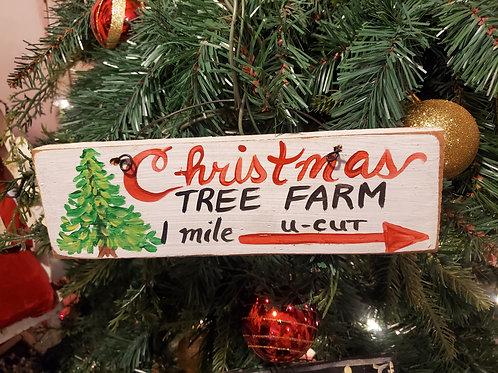 """Christmas Sign 9""""x3"""""""