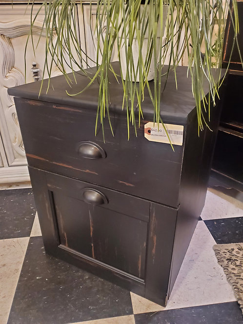 "Black File Cabinet - 15 1/2"" wide x 19 1/2"" tall"