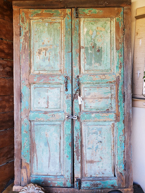 2 Pieces/ Salvaged Shutters - Green