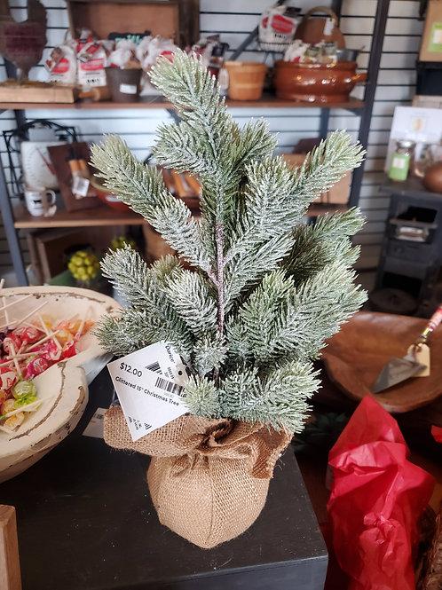 "Glittered 15"" Christmas Tree"