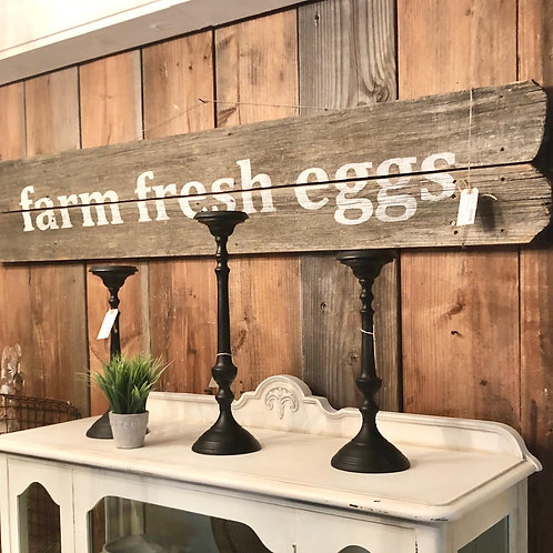 XL Fresh Eggs Sign