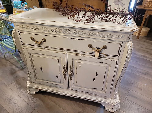 White Sideboard W/ Pulls Outs