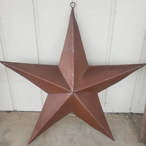 4' Wide Rusty Metal Star