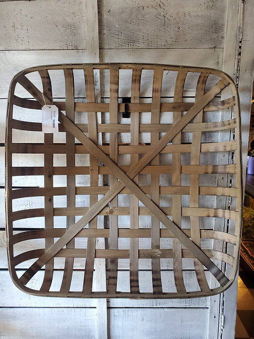 """Tabacco Basket Tray OR Wall Hanging - 27"""" square"""