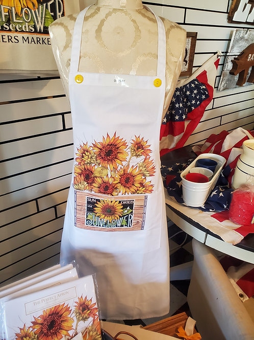 """Sunflower Crate"" Pocket Apron 36"" long"