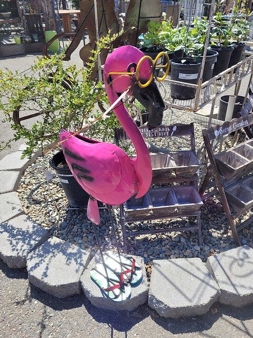 3' Metal Flamingo