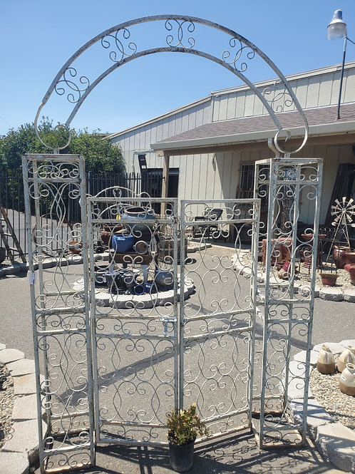 "Large Boxed Arbor w/ Gate - 62"" wide"