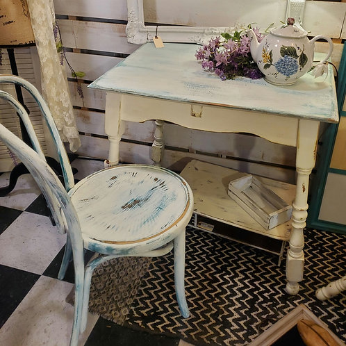 """Table/Desk w/ Chair - Table measures 30"""" tall x 30 1/2"""" wide x 23 1/2"""" deep"""