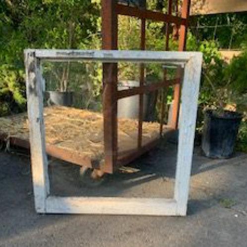 "Vintage window in frame 28"" x 28"""