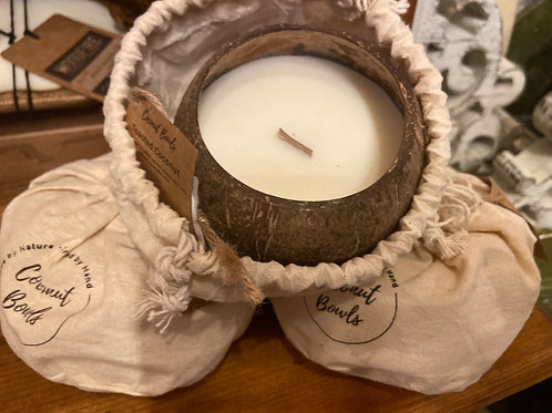 Coconut Bowl Organic Soy Candle - Toasted Coconut