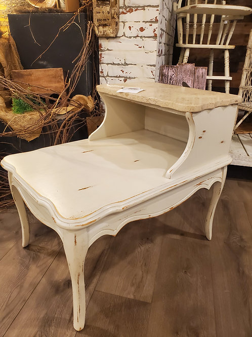 Set of 2 Marble Top Side Tables