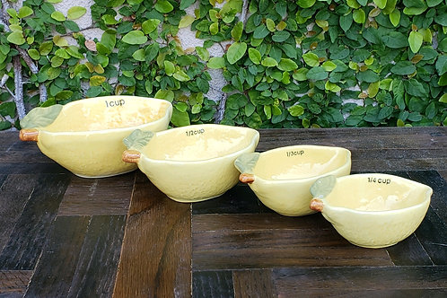 Lemon Measuring Cup Set