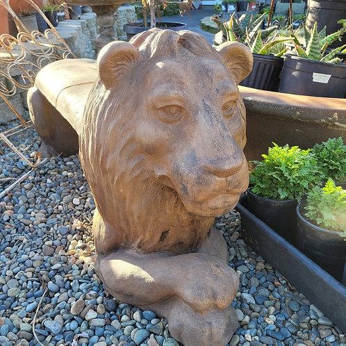Cement Lion Bench