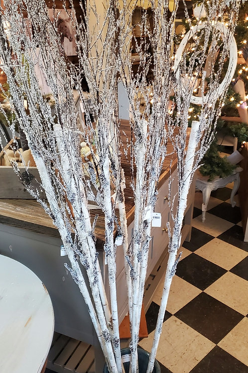 """Icy 80"""" Faux Birch Branch - Priced individually"""