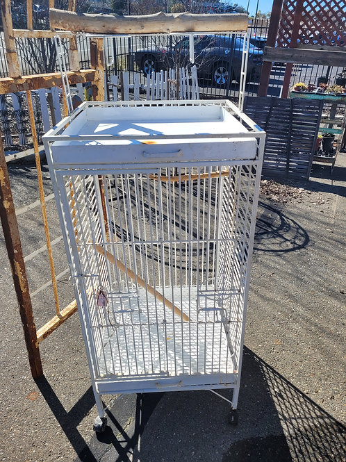 White Rolling Cage