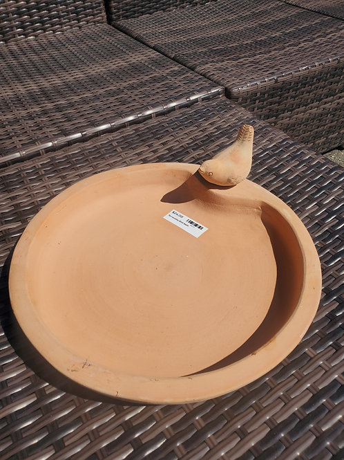 "Terracotta Tabletop Birdbath 14"" round"