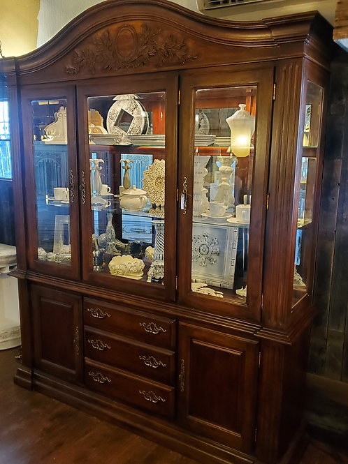 "Large China Hutch - 92 1/2"" tall x 75 1/2"" wide x 19 1/2"" deep"