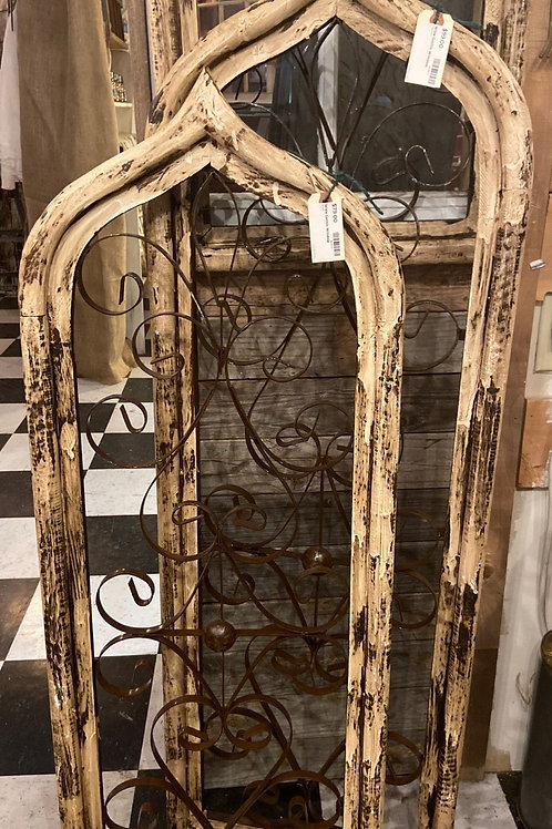 """Cathedral Style Window (wood/metal, no glass) 53"""" x 16"""" wide"""