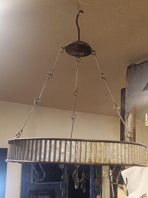 "Pot Rack with hooks - hangs 24"" x 20"" wide"