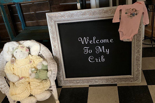 Welcome To My Crib Sign