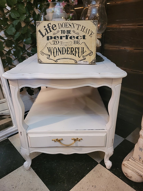 Set of 2 French Provencial Style Tables / Nightstands