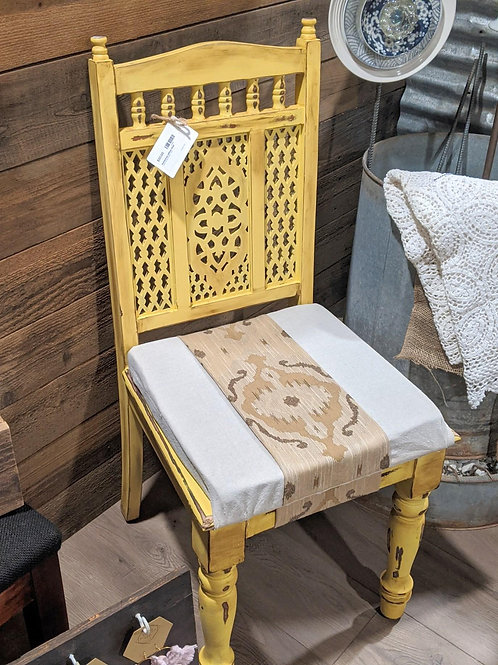 Sale! Buttercup Yellow Wooden Distressed Chair