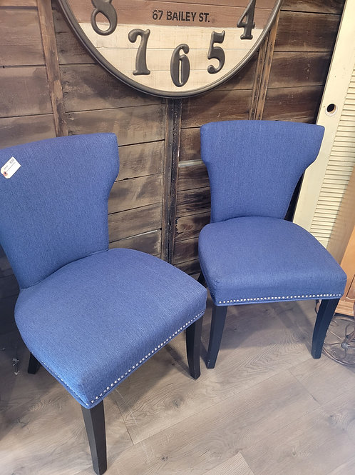 Set of 2 Blue Denim Style Chairs