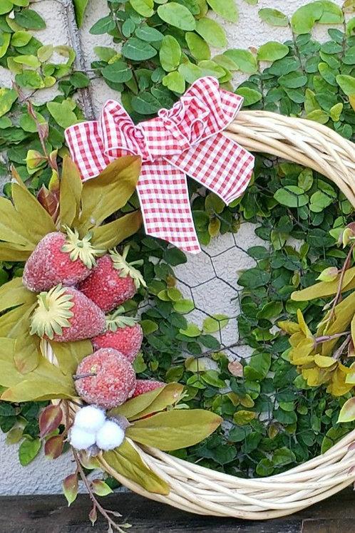 Strawberry Chicken Wire Wreath