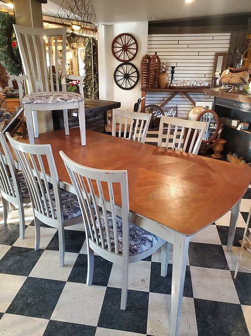 7' Dining Table w/ 6 Chairs