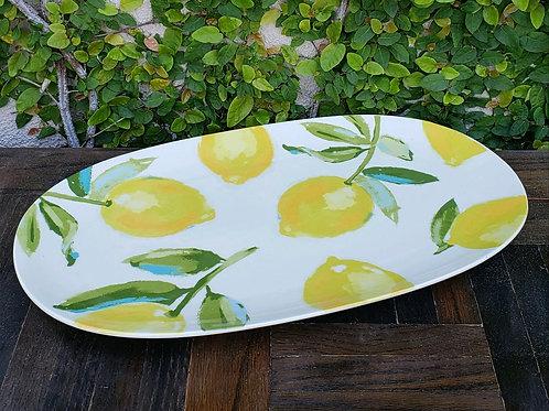 Glass Lemon Serving Platter - 15x9