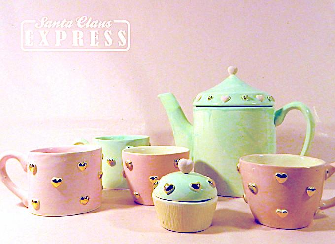 Ceainic, Cesti si Cupcake Sugar&Mint