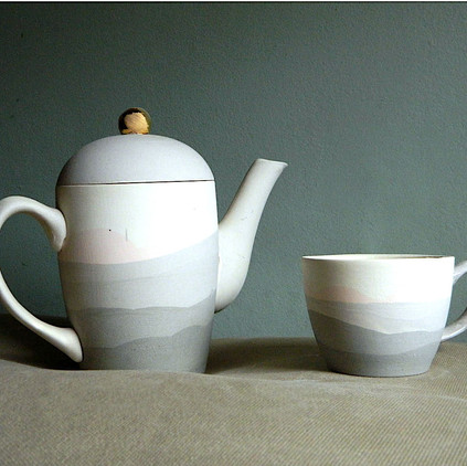 Set Ceai Pastel Grey