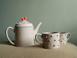 Set Ceai Pastel Roses