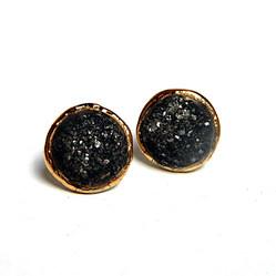 Cercei Glittery Black