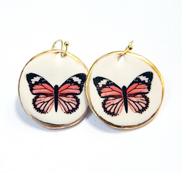 Cercei Pink Butterfly