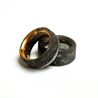 Inele Glittery Black