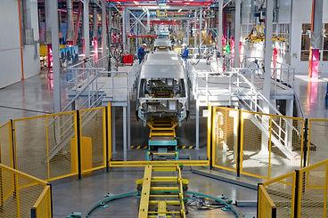 car manufacturing. guarding, robotics