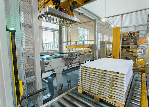 palletising, light curtains, guarding machinery