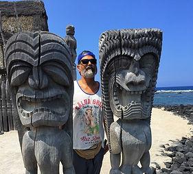 City of Refuge Tiki Totem Hawaii Pu'uhonua o Honaunau