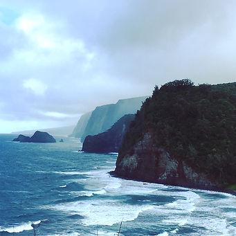 Pololu Black Sand Beach Hawaii Big Island